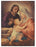 Holy Family Small Gold Embossed Plaque
