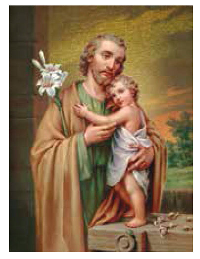 Saint Joseph Small Gold Embossed Plaque