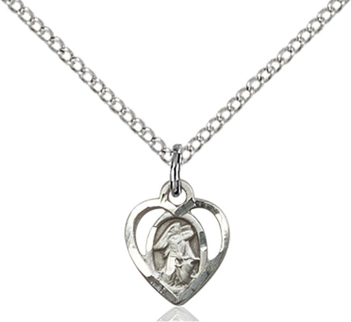 Sterling Silver Guardian Angel, Angel Jewelry Necklace Set