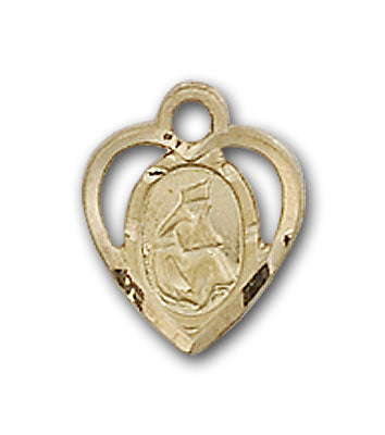 14K Gold Our Lady of La Salette Pendant