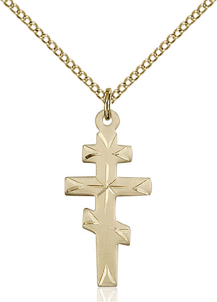 Gold-Filled Greek Orthadox Cross Necklace Set