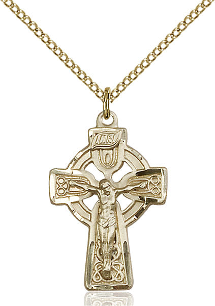Gold-Filled Celtic Crucifix Necklace Set