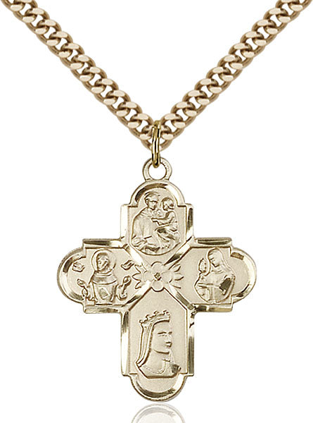 Gold-Filled Franciscan 4-Way Necklace Set