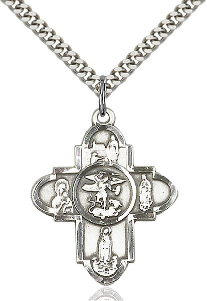 Sterling Silver Our Lady 5-Way Necklace Set