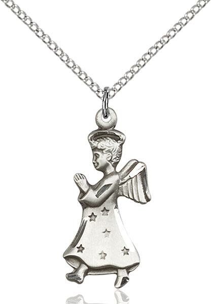 Sterling Silver Angel Necklace Set