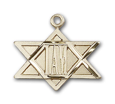 14K Gold I Am Star Pendant