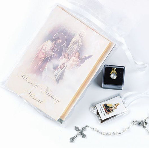 Blessed Trinity Communion Set In Organza Pouch