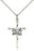 Sterling Silver Doves and Cross Necklace Set