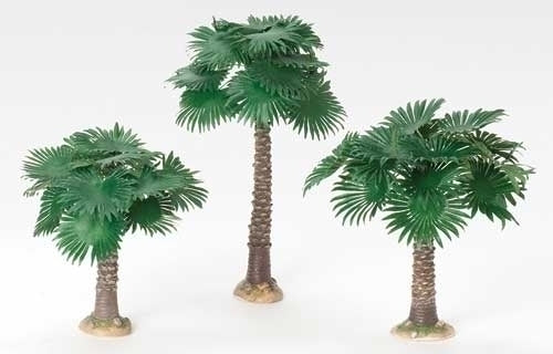 3Pc Saint 6.5-inch-9.5-inch Fan Palm Tree