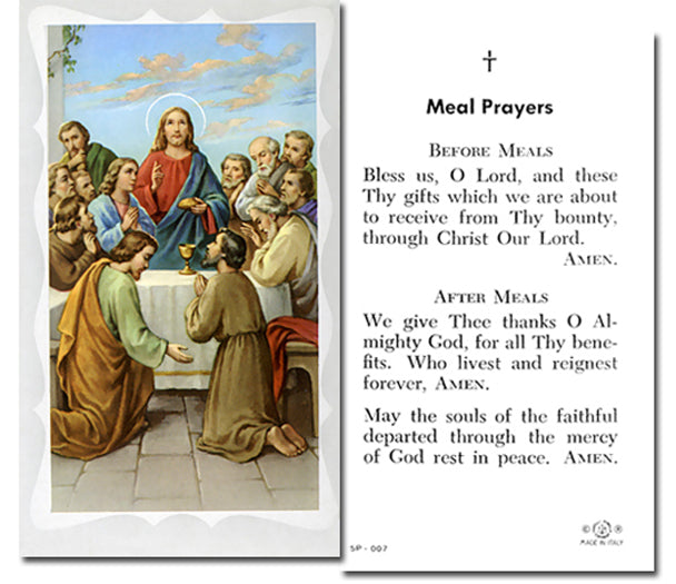 100-Pack - Prayer Before And After Meals Holy Card