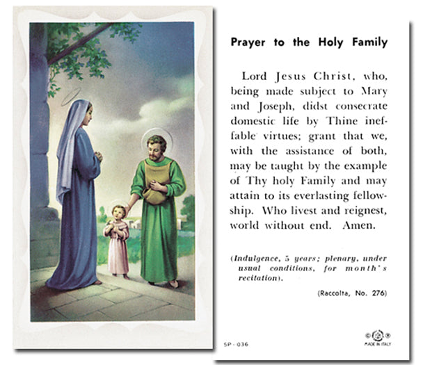 100-Pack - Holy Family with Prayer Holy Card