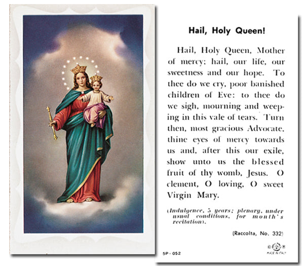 100-Pack - Our Lady Of Victory Holy Card With Prayer