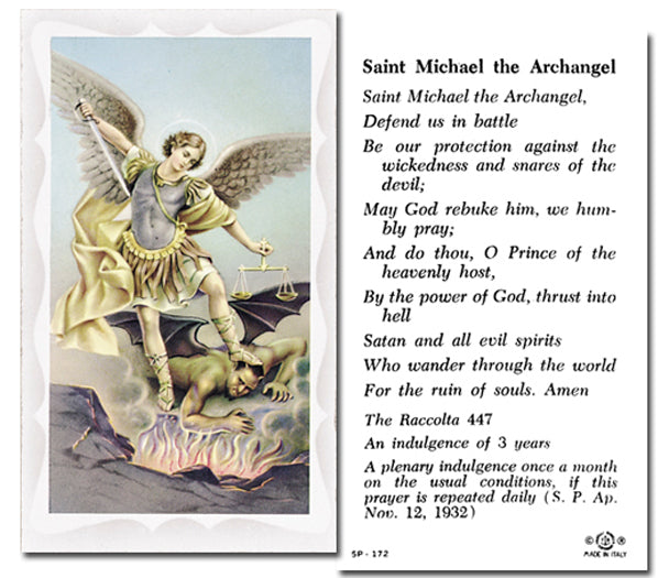100-Pack - Saint Michael Holy Card With Prayer
