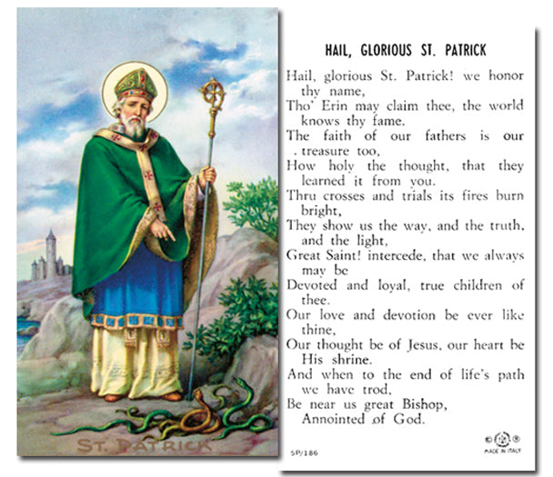 100-Pack - Saint Patrick With Prayer Holy Card