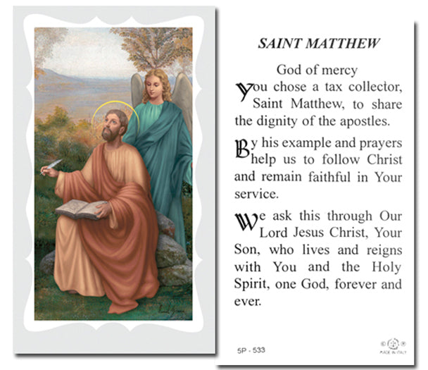 100-Pack - Saint Matthew Holy Card With Prayer