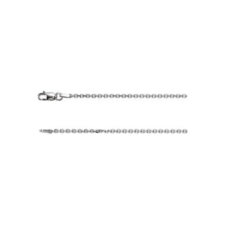 16-inch Diamond Cut Cable Chain with Lobster Clasp - Sterling Silver