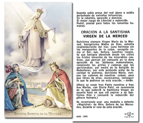 100-Pack - N.S. De La Merced Holy Card