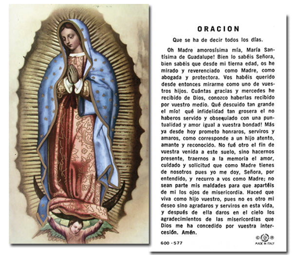 100-Pack - Oracion Our Lady Of Guadalupe Spanish