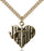 Gold-Filled Heart of Jesus and Cross Necklace Set