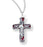 Red Enameled Cross On Chain And Boxed