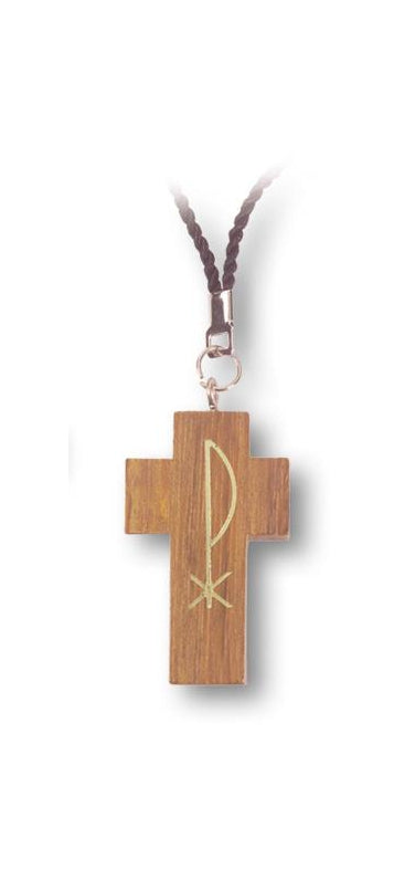 10-Pack - 2-inch Wood Cross On Cord