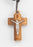 1 1/3-inch Laser Cut Olive Wood Crucifix On 27-inch Cord Boxed