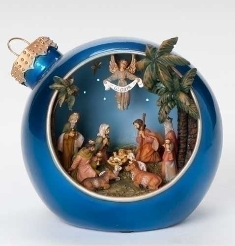 Musical 6-inch LED Ntvty Christmas Ball Figurine