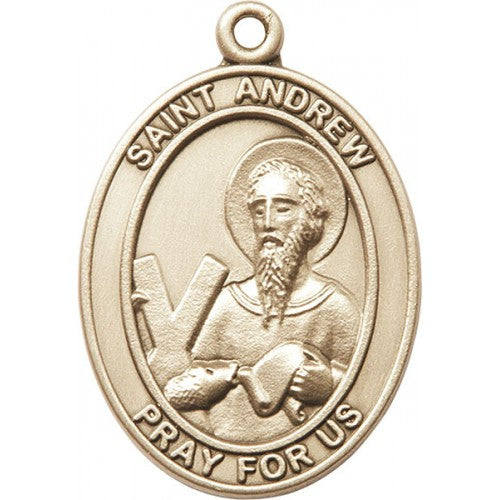 Gold Oxide Saint Andrew Keychain