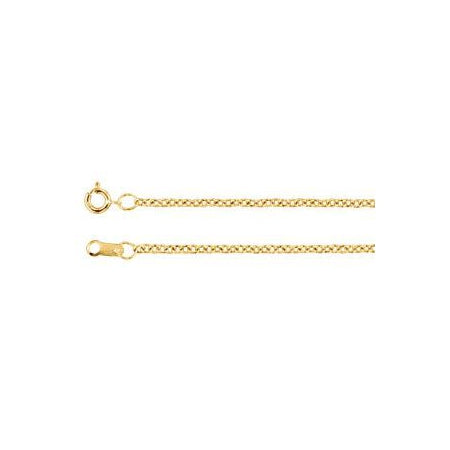 30-inch Cable Chain with Spring Ring - 14K Yellow Gold Gold-Filled