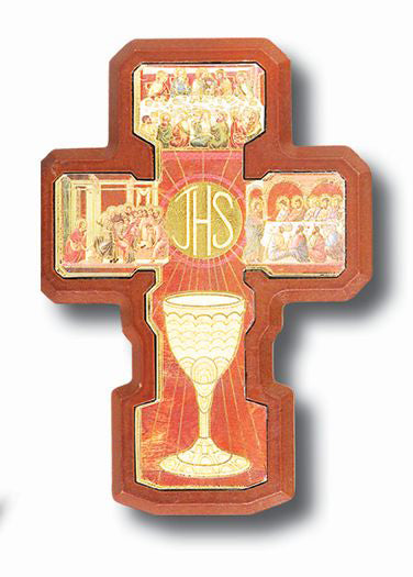 Gold Communion Cross 4 X 5-inch