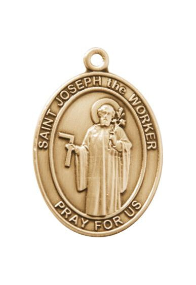 Gold Oxide Saint Joseph the Worker Keychain
