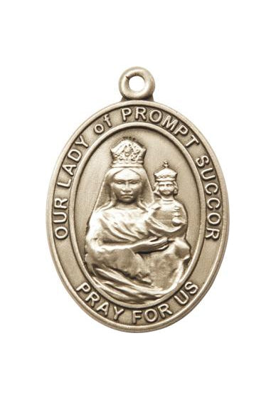 Gold Oxide Our Lady of Prompt Succor Keychain
