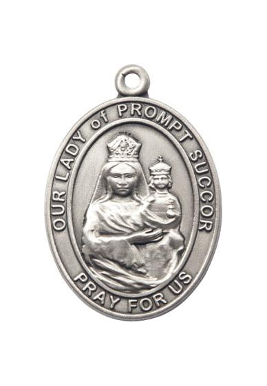 Silver Oxide Our Lady of Prompt Succor Keychain