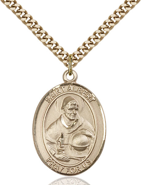 Gold-Filled Saint Albert the Great Necklace Set