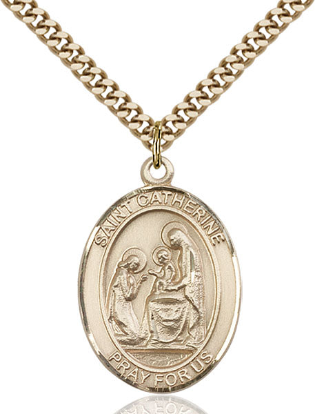Gold-Filled Saint Catherine of Siena Necklace Set