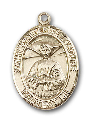14K Gold Saint Catherine Laboure Pendant