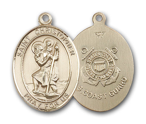 14K Gold Saint Christopher Pendant