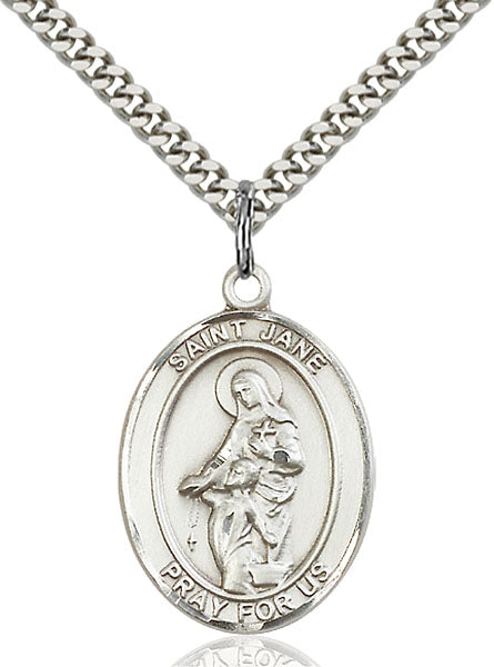 Sterling Silver Saint Jane of Valois Necklace Set