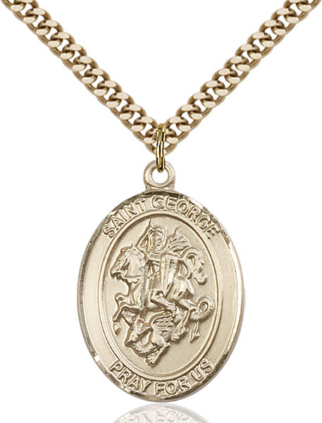 Gold-Filled Saint George Necklace Set