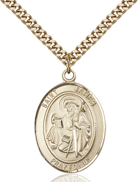 Gold-Filled Saint James the Greater Necklace Set