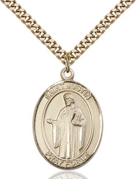 Gold-Filled Saint Justin Necklace Set