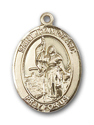 14K Gold Saint Joan of Arc Pendant