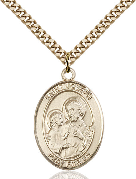 Gold-Filled Saint Joseph Necklace Set