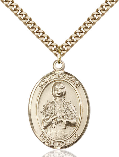 Gold-Filled Saint Kateri Necklace Set