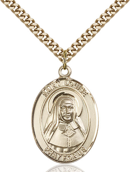 Gold-Filled Saint Louise de Marillac Necklace Set
