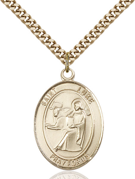 Gold-Filled Saint Luke the Apostle Necklace Set