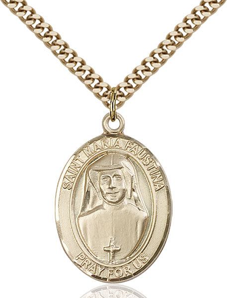 Gold-Filled Saint Maria Faustina Necklace Set