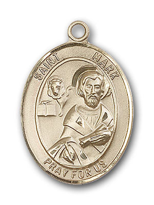 14K Gold Saint Mark the Evangelist Pendant