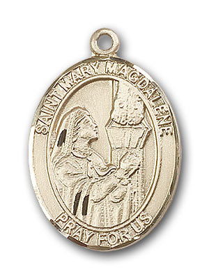 14K Gold Saint Mary Magdalene Pendant