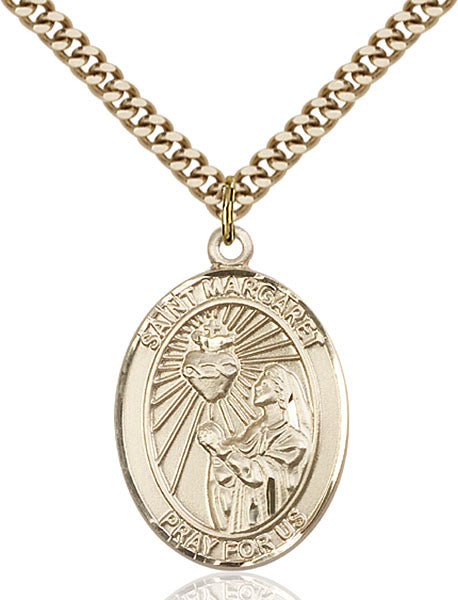 Gold-Filled Saint Margaret Mary Alacoque Necklace Set
